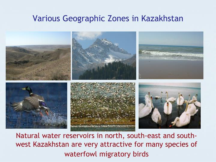 Various Geographic Zones in Kazakhstan