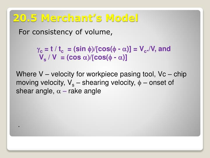 For consistency of volume,