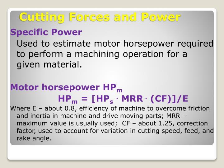 Specific Power