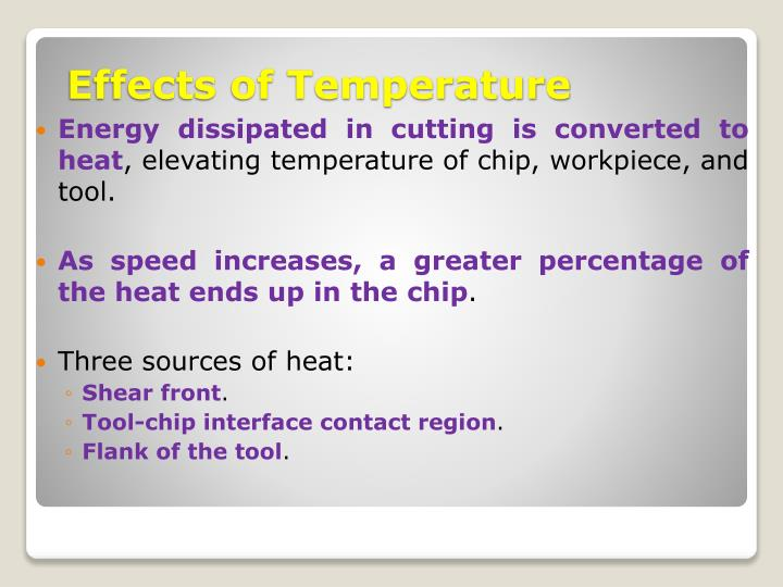 Energy dissipated in cutting is converted to heat