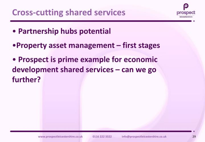 Cross-cutting shared services