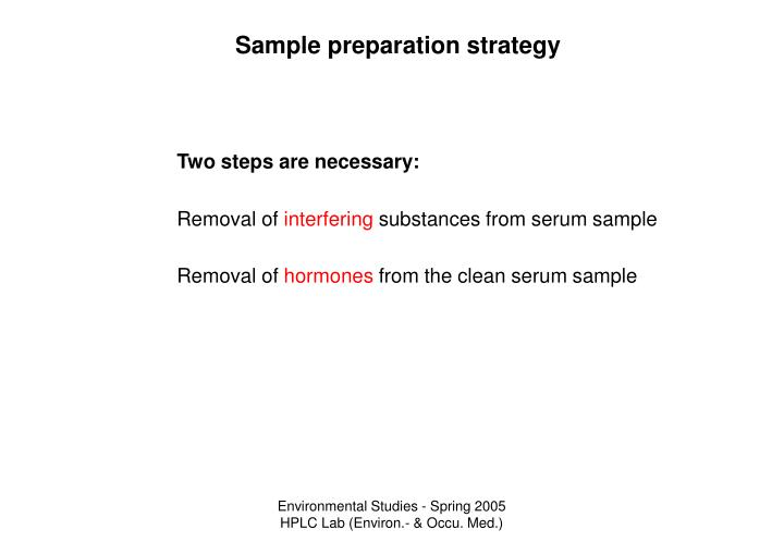 Sample preparation strategy