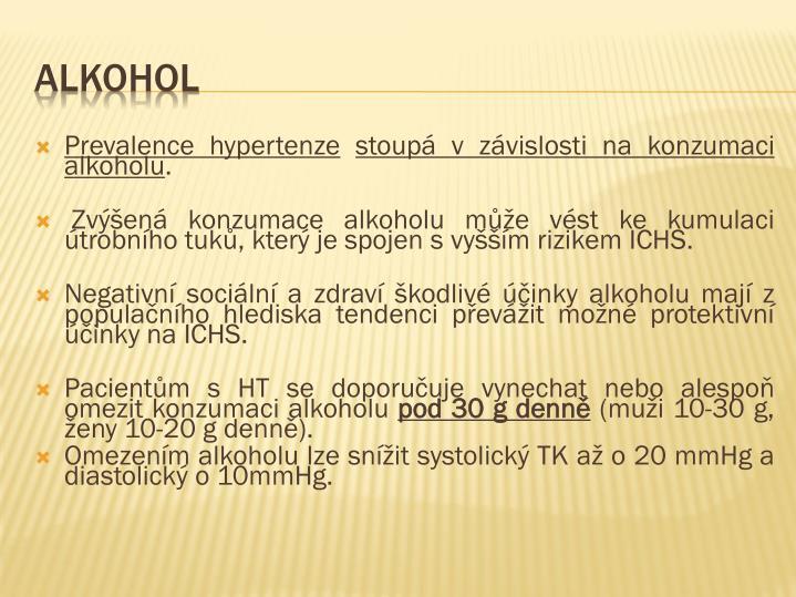 Prevalence hypertenze