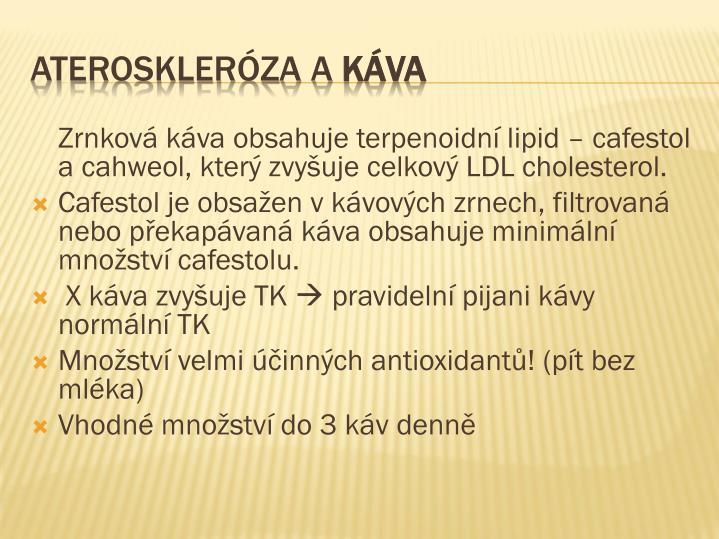 Zrnková káva obsahuje