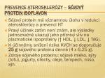 prevence ateroskler zy s jov protein isoflavon