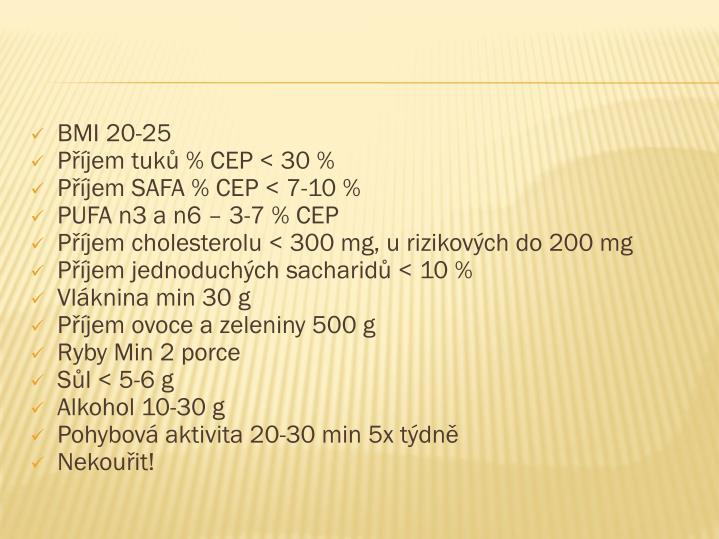 BMI 20-25