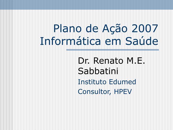 Plano de Ação 2007