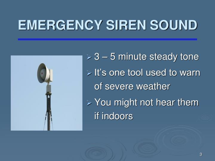 Emergency siren sound