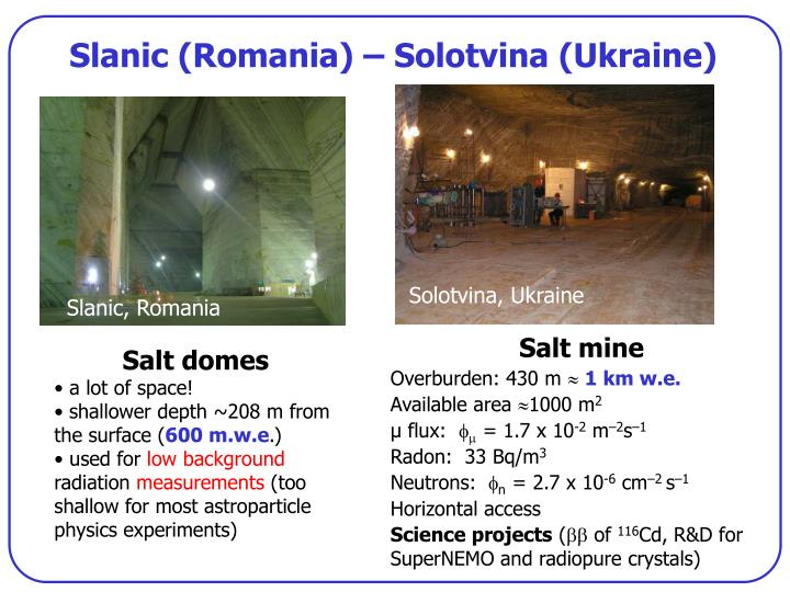 Slanic (Romania) – Solotvina (Ukraine)