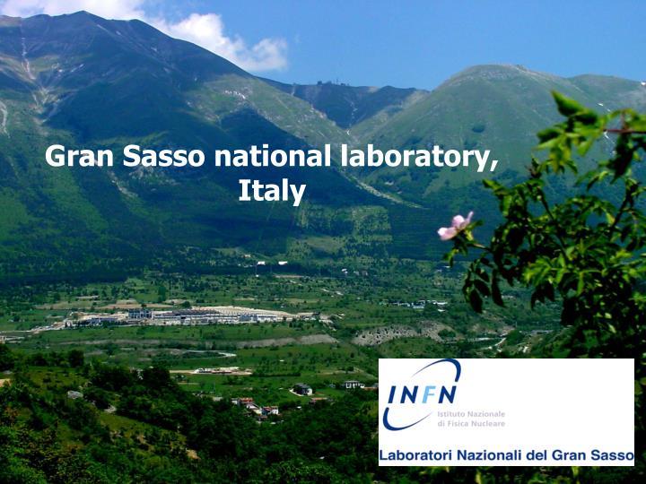 Gran Sasso national laboratory, Italy