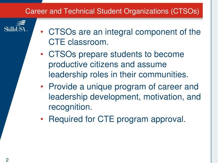 Career and technical student organizations ctsos