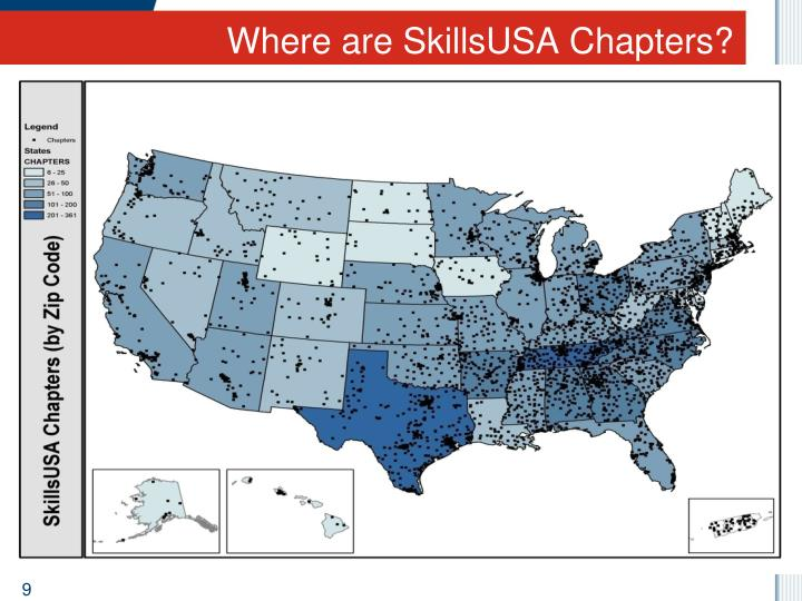 Where are SkillsUSA Chapters?