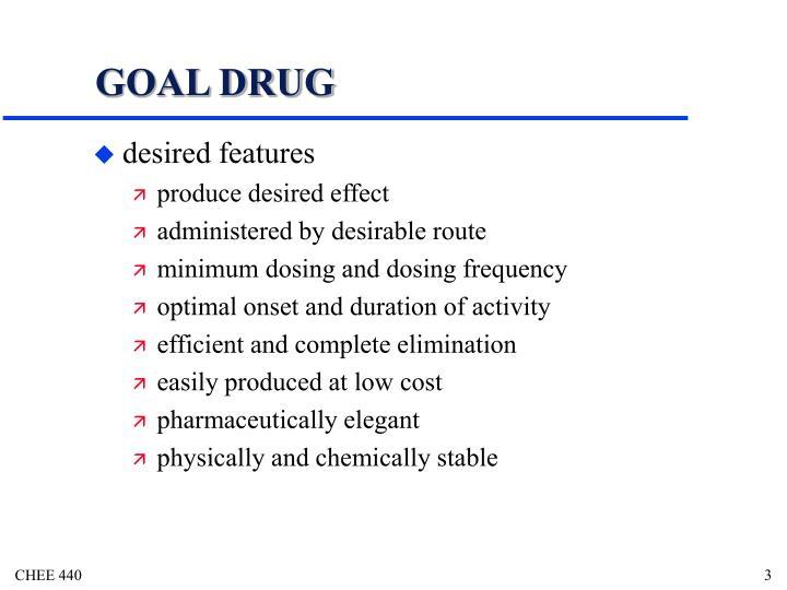 GOAL DRUG