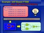 example sat based ftbm step3 sat solving and mapping