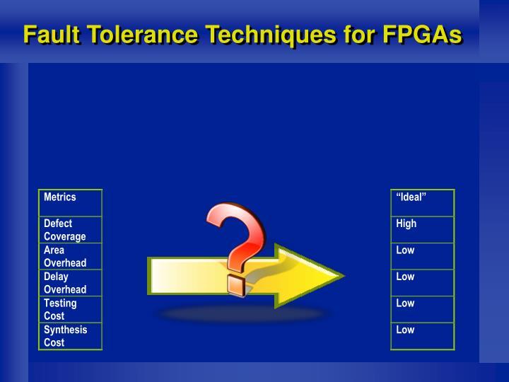 Fault Tolerance Techniques for FPGAs