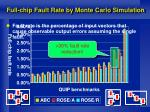 full chip fault rate by monte carlo simulation