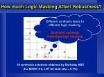 how much logic masking affect robustness