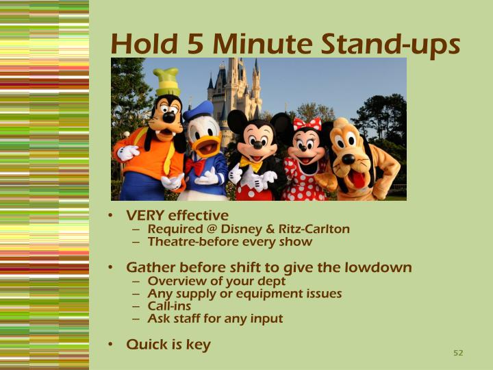 Hold 5 Minute Stand-ups