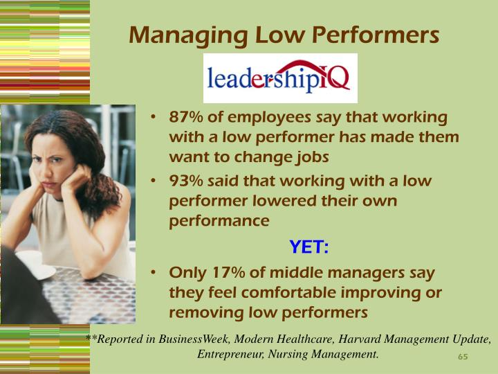 Managing Low Performers