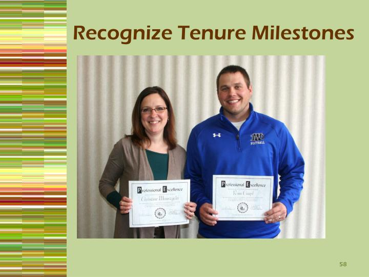 Recognize Tenure Milestones