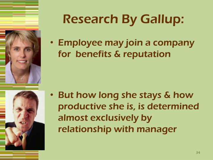 Research By Gallup: