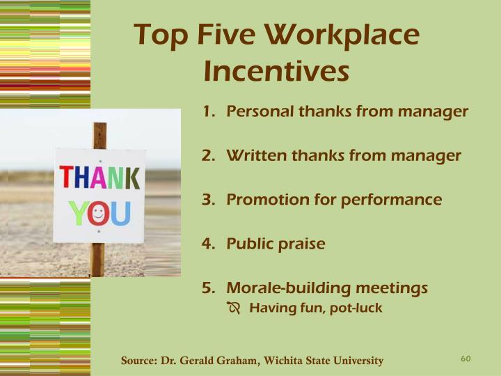 Top Five Workplace Incentives