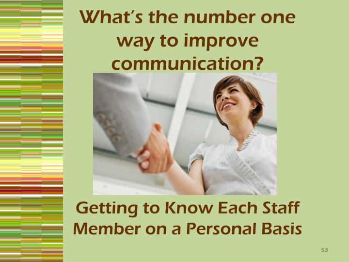 What's the number one way to improve communication?
