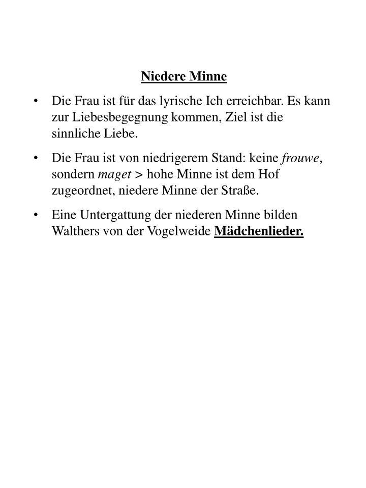 Niedere Minne