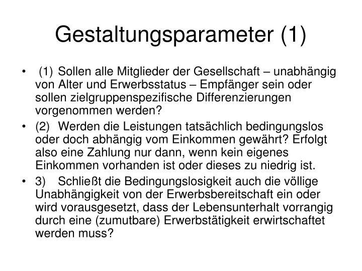 Gestaltungsparameter (1)