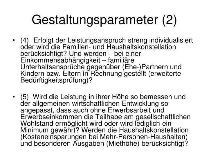 Gestaltungsparameter (2)