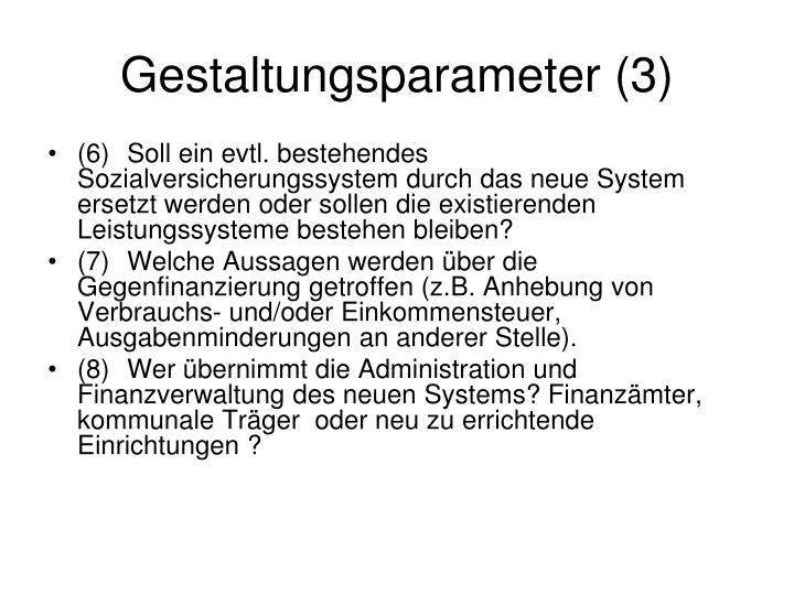 Gestaltungsparameter (3)