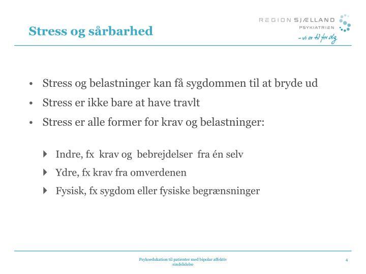 Stress og sårbarhed
