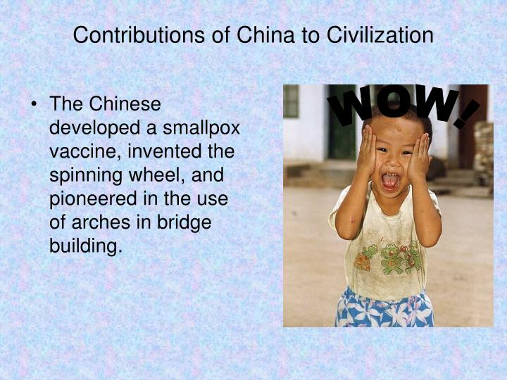 Contributions of China to Civilization