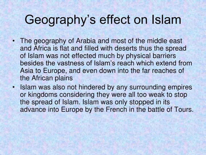 Geography's effect on Islam