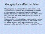 geography s effect on islam