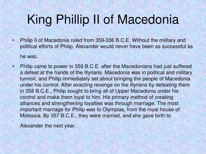 King Phillip II of Macedonia