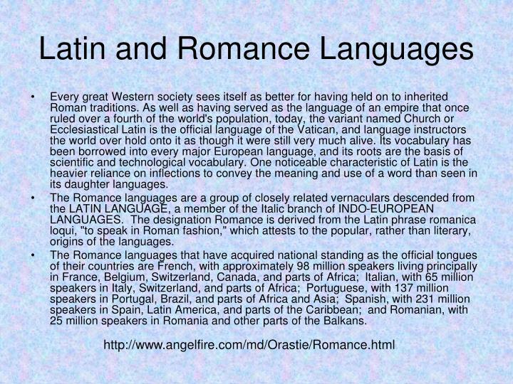 Latin and Romance Languages