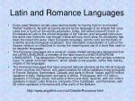 latin and romance languages