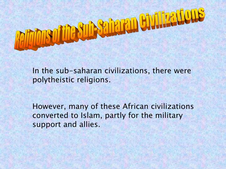 Religions of the Sub-Saharan Civilizations