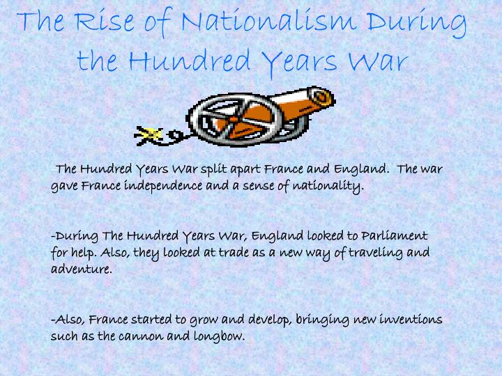 The Rise of Nationalism During the Hundred Years War