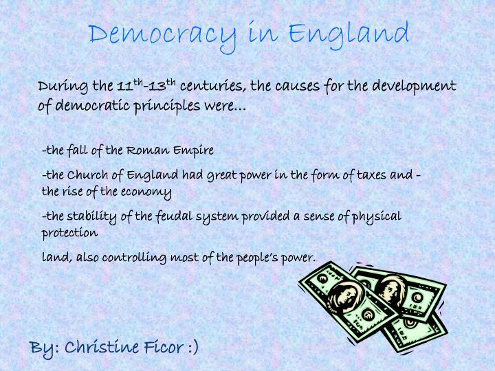 Democracy in England