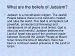 what are the beliefs of judaism