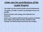 what were the contributions of the gupta empire