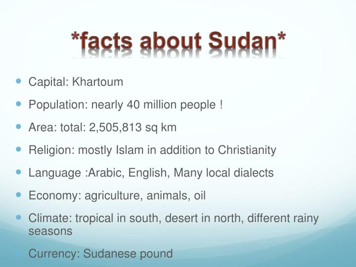 *facts about Sudan*