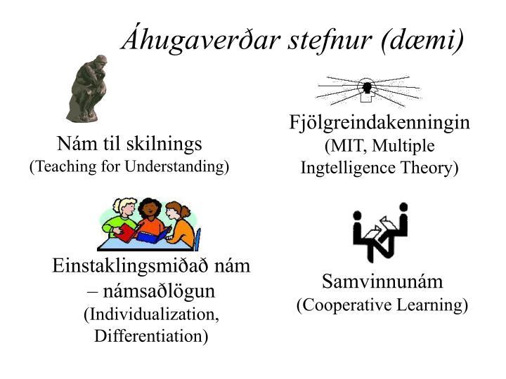Áhugaverðar stefnur (dæmi)