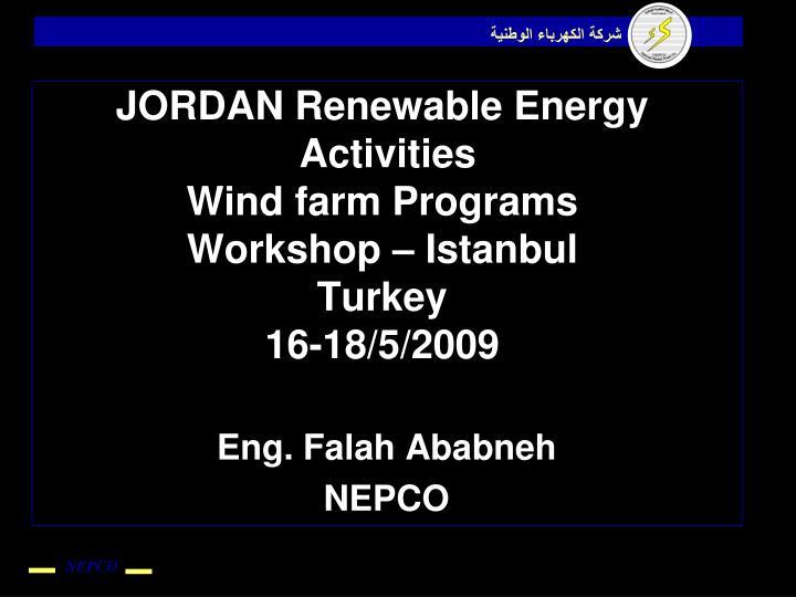 JORDAN Renewable Energy