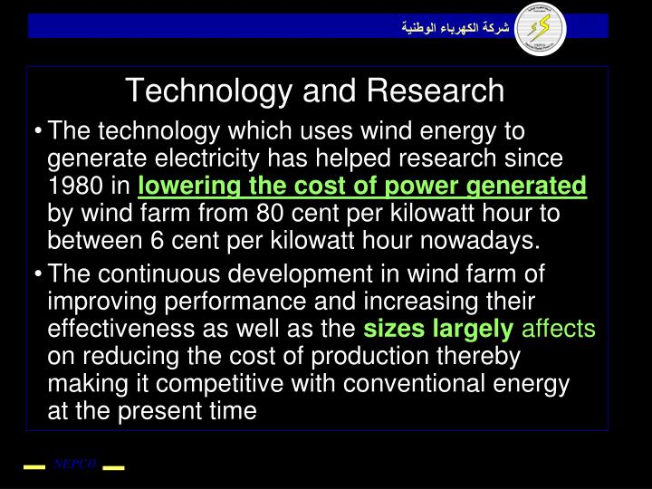Technology and Research