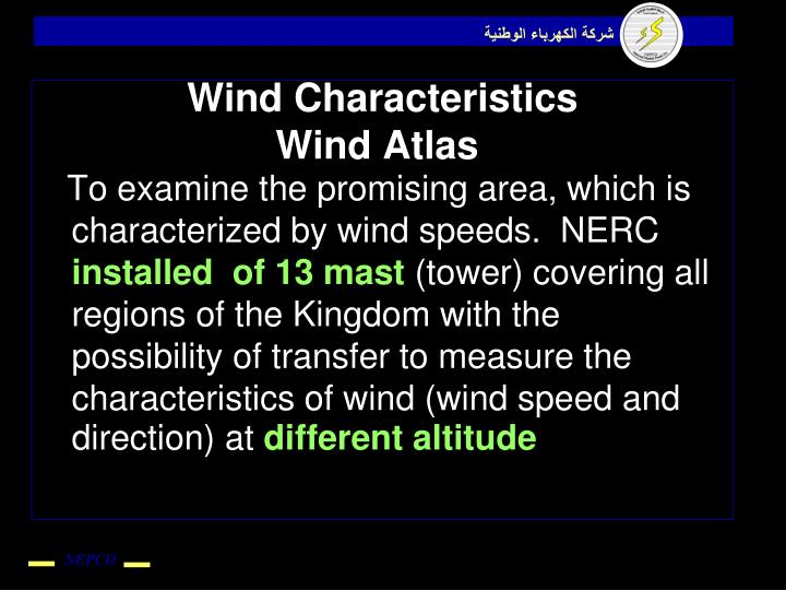 Wind Characteristics