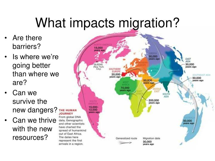 What impacts migration?