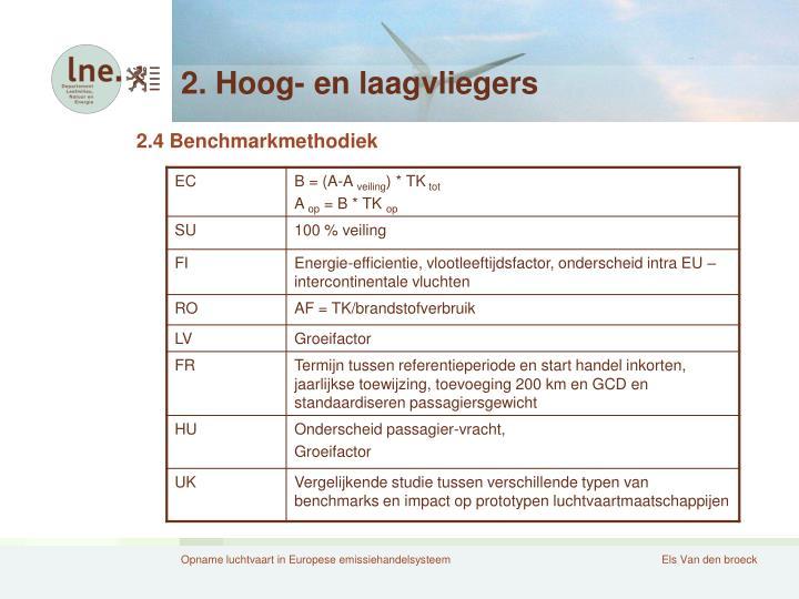 2. Hoog- en laagvliegers